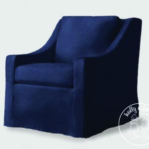 Kelly armchair Midnight blue