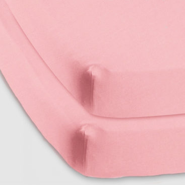 Baby cot fitted sheet blush