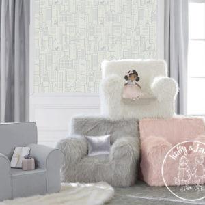 Carry go chair plain winter white fur composite