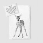 Deer duvet set white