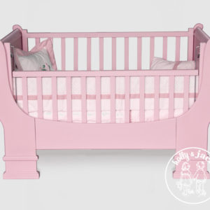 French sleigh cot pink