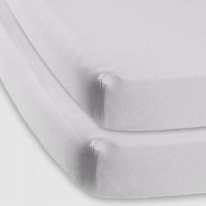 Baby basics cot sheet grey