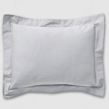 Grey Oxford pillowcase