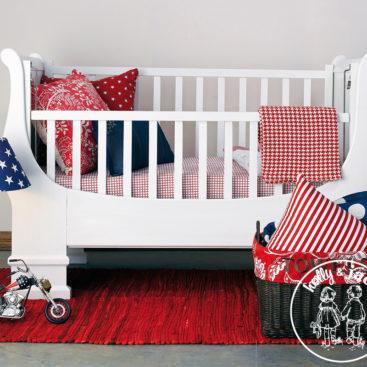 H&J White sleigh cot