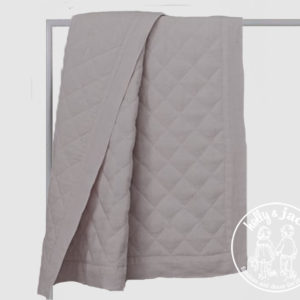 Linen quilt grey
