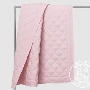 Linen quilt pink