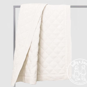 Linen quilt winter white