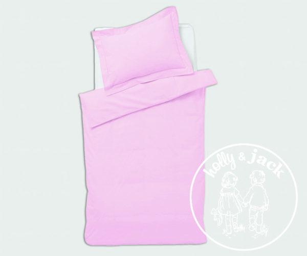 Baby basics cot duvet set pink