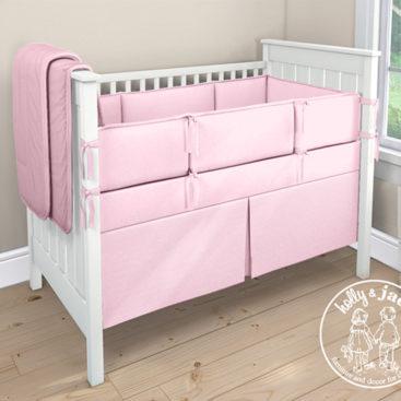 Plain cot set pink