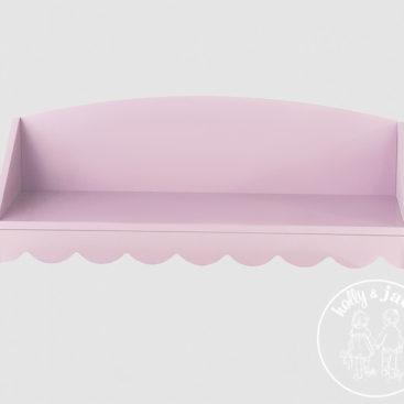 Scallop wall shelf pink