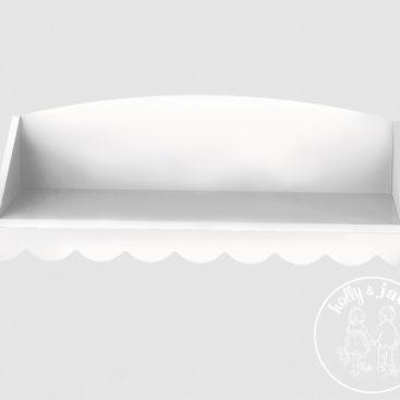 Scallop wall shelf white