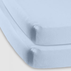 Baby basics cot fitted sheet sky