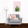 Succulent in pink poster A3 2