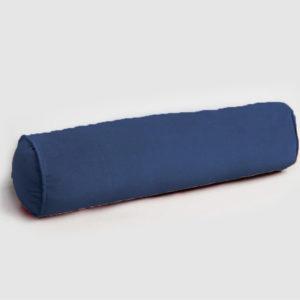 Velvet bolster cushion midnight blue