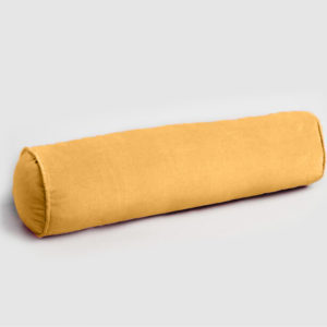 Velvet bolster cushion sunshine