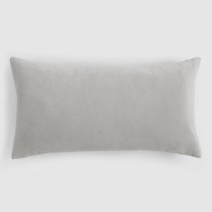 Velvet lumbar cushion grey