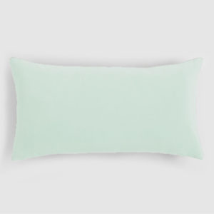 Velvet lumbar cushion mint