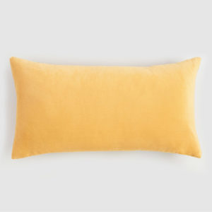 Velvet lumbar cushion sunshine