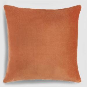 Velvet throw pillow copper