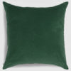 Velvet throw pillow emerald