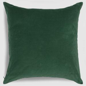 Velvet throw pillow emerald