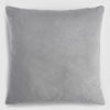 Velvet throw pillow grey