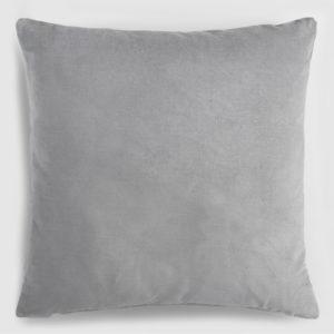 Velvet throw pillow grey