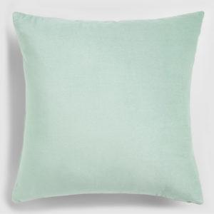 Velvet throw pillow mint