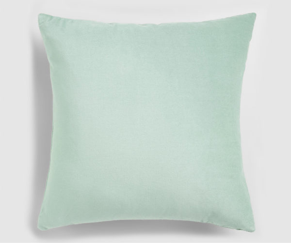 Velvet throw pillow mint