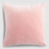 Velvet throw pillow blush