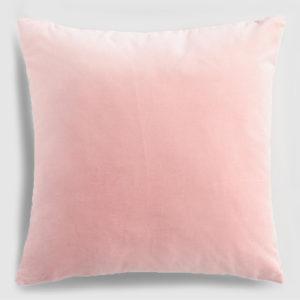 Velvet throw pillow blush