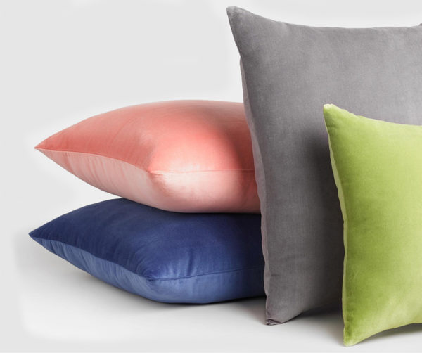 Velvet throw pillow pcollection