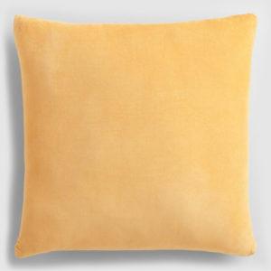 Velvet throw pillow sunshine