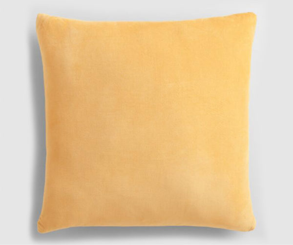 Velvet throw pillow sunshine