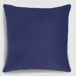 Velvet throw pillownavy