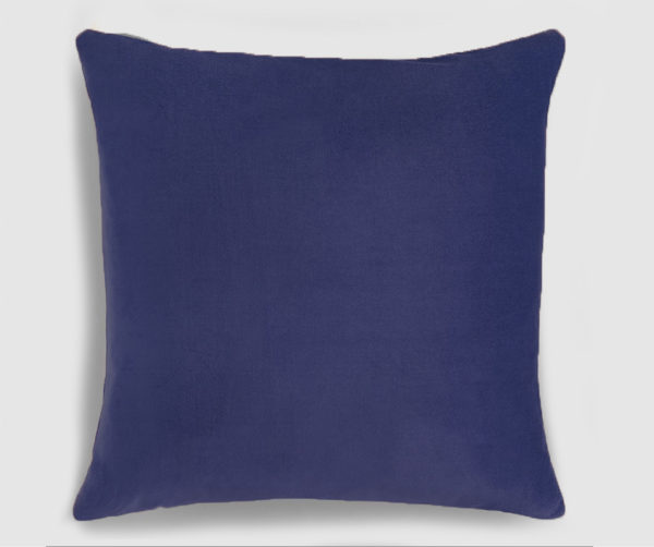 Velvet throw pillownavy