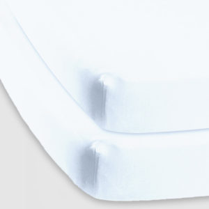 Baby basics cot sheet white