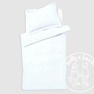 Baby basics cot duvet set white