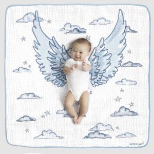 ANGEL WINGS PHOTO OP BLANKET blue 1
