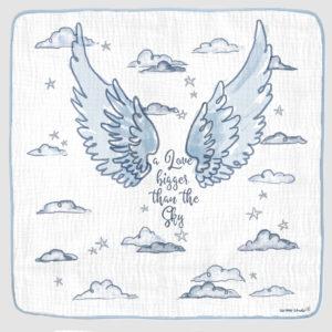 ANGEL WINGS PHOTO OP BLANKET blue 2