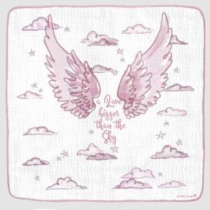 ANGEL WINGS PHOTO OP BLANKET pink 1