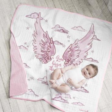 ANGEL WINGS PHOTO OP BLANKET pink 3