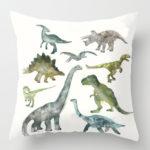 Dinosaur paints pillow