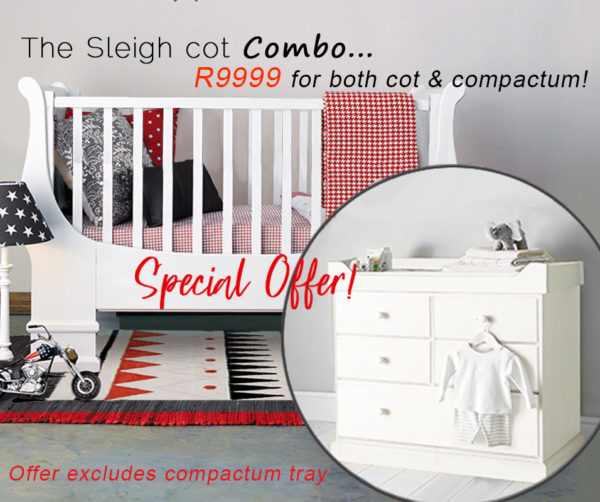 French sleigh cot and classic compactum combo sale special-Recovered