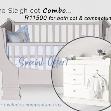 French sleigh cot and classic compactum combo sale special summer 2021