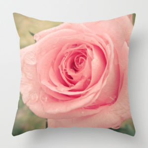Giant rose pillow