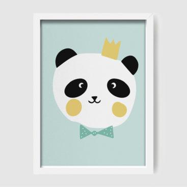 Panda poster turq 2