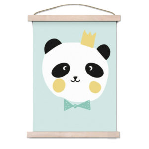 Panda poster with white background