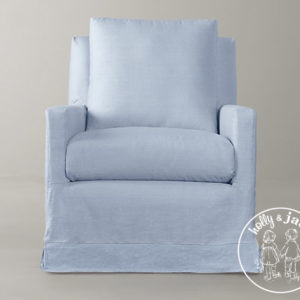 Petite armchair blue with loose cover 1