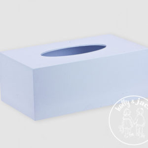 H&J accessories collection tissue box blue